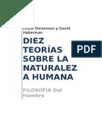 Resumen Diez Teorías Sobre La Naturaleza Humana