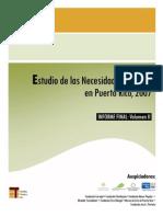 Estudio de Las Necesidades Sociales en Puerto Rico 2007 Volumen II