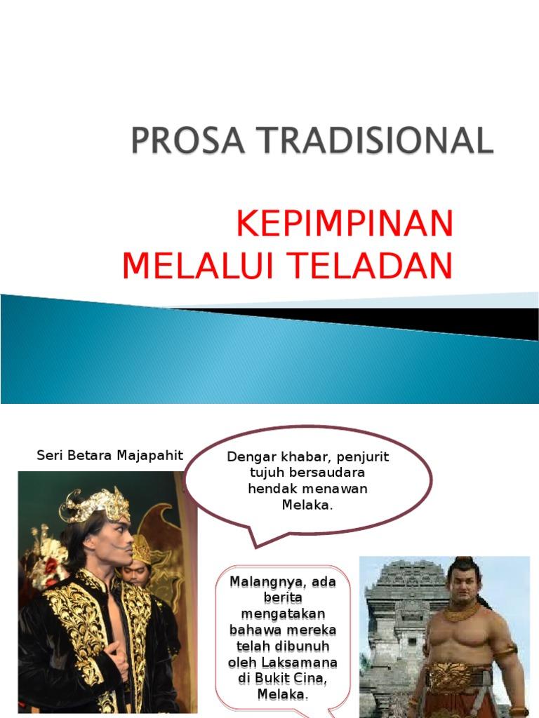 Prosa Tradisional Kepimpinan Melalui Teladan