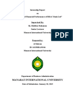 An Analysis of Financial Performance of BRAC Bank Ltd - Al Sukran