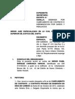 Demanda Por Cumplimiento de Contrato Roberto Montenegro