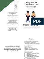Programa de Ceremonia Colegio Del Prado 2014