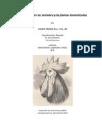 Darwin - La Variación de Los Animales y de Las Plantas..