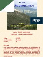 Curso diseño Geotecnico