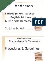 Amy's Classroom Procedures