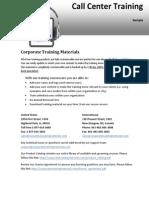 Call Center Training Sample