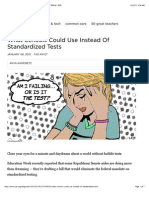 what schools could use instead of standardized tests