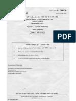 CSEC MATh may 2007 paper 2