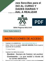 Instrucciones Sencillas de Acceso y Actividades Ppales