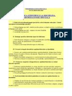 Psihopedagogie Speciala Titularizare 2015