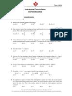 Kangaroo Maths 2013