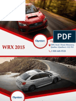 Subaru WRX 2015 à Québec - Un véhicule avec traction intégrale