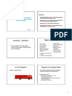 Managing Inventory Flow on Supply Chains and Inventory decision making