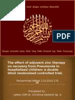 Jurnal Zinc Pada Anak Dengan Pneumonia