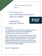 Assignment 1 Service Management