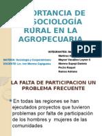 Importancia de La Sociología Rural en La Agropecuaria