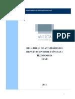 Relatório de Atividades Do Departamento de Ciências e Tecnológias