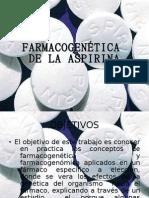 Farmacogenética y farmacogenomica de la Aspirina