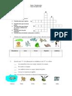 Guía ciencias vertebrados