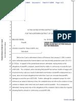 Segel v. Cross Country Travcorps, Inc - Document No. 4