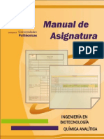 Manual de asignatura de Química Analítica