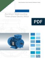 WEG w21 Aluminium Multimounting Three Phase Electric Motor 50035487 Brochure English