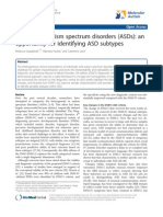 dsm-5 and autism spectrum disorders-an opportunity for identifying asd subtypes