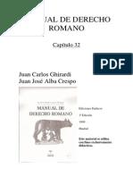 Manual de Derecho Romano Capitulo 32