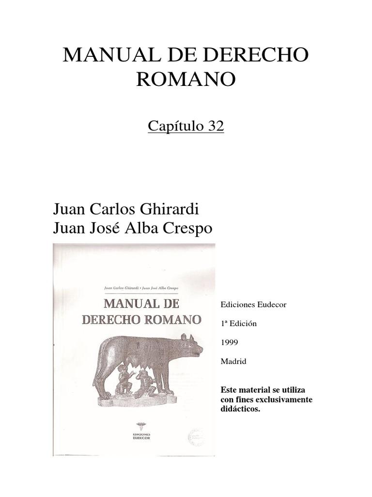manual derecho romano arguello pdf gratis