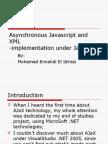 Asynchronous Javascript and XML - Java Implementation
