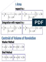 Centroids - Formula Sheet