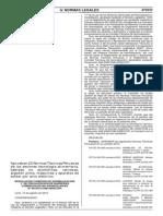 Normas Técnicas Peruanas de los sectores tecnología alimentaria, bebidas no alcohólicas, cervezas, algodón pima, máquinas y aparatos de soldar por arco eléctrico