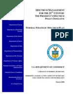 Federal Strategic Spectrum Plan 2008