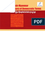 International IDEA _ English-Myanmar Glossary of Democratic Terms (Myanmar)