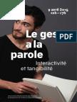 Journée d'étude « Le geste a la parole – Interactivité et tangibilité »