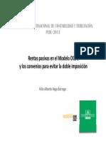 Rentas Pasivas en El Modelo Ocde y Los Convenios Para Evitar La Doble Imposición - Félix Vega