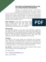Impact of Monetary Policy of Bangladesh Bank on The
