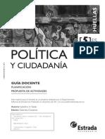 Huellas Política y Ciudadanía 5to Año