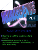 Neuroscience 9 Auditory System Review