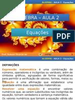 Algebra - Aula 2