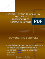 RA 9184 Consulting IRR 23 June 2008