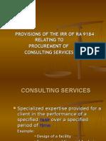 RA 9184 Consulting IRR 23 June 2008