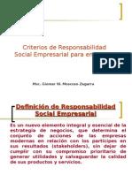Responsabilidad Social - Filosofia Empresarial