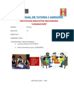 Plan Anual de Tutoria 2015