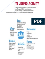 Child Attribute Listing Act
