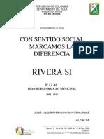 PLAN DESARROLLO Rivera Huila 2012-2015