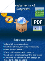 Into to A2 Geography