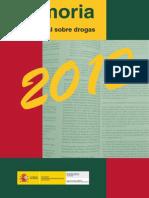 Plan Nacional Sobre Drogas. Memoria 2012
