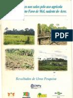 Modificações nos solos pelo uso agrícola no Assentamento Favo de Mel