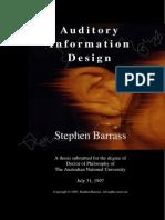 Barrass - 1997 - Auditory Information Design